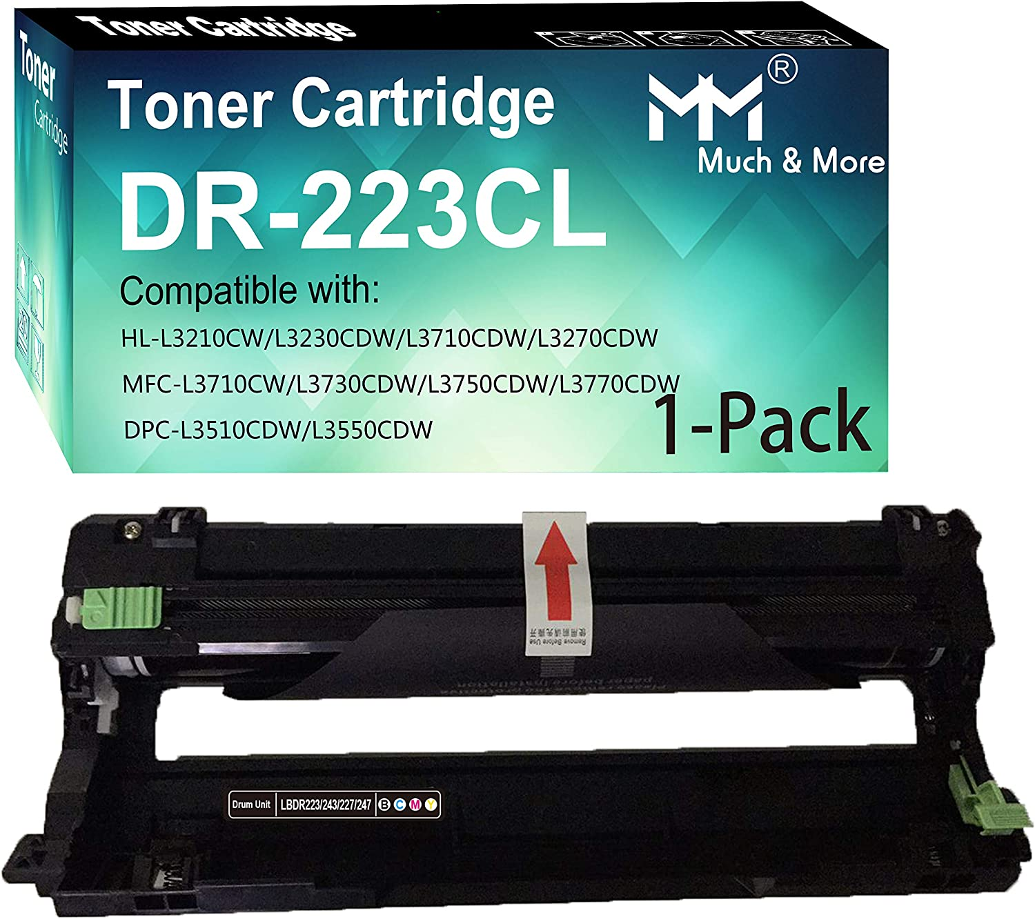 MM MUCH & MORE Compatible Drum Unit Replacement for Brother DR223CL DR223 223CL Used with HL-L3210CW L3230CDW L3270CDW L3290CDW MFC-L3710CW L3750CDW L3770CDW Printers (1-Pack)