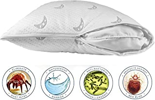 Sleep Stature Premium Zippered Pillow Protector - Waterproof Hypoallergenic Pillow Cover - Bed Bugs and Dust Mite Pillow Protector. Standard Size - 20 x 28 Inches