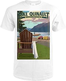 Lake Quinault and Adirondack Chairs - Washington 45826 (Premium White T-Shirt XX-Large)