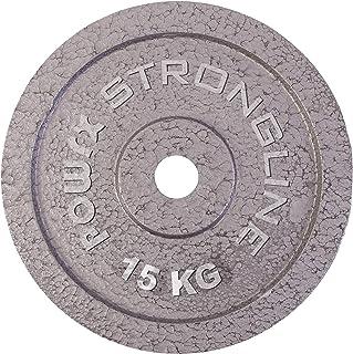 POWRX Hantelskivsset inklusive träning I olika viktvarianter 5–40 kg I gjutjärn vikter 30 mm borrning