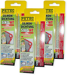 Petec_bundle 3X PETEC SILIKONDICHTUNG ROT Dichtmasse Dichtstoff Tube 70 ML SB Karte 97880