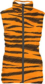 Rainbow Rules Tigger Stripes Winnie The Pooh Inspired Womens Puffer Vest Bodywarmer Gilet