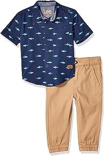 Lee Baby-Boys 2pc Button Up Shirt Pant Set Pants Set