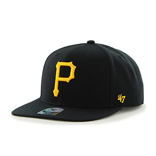 more photos cae02 7aad8  47 Brand Pittsburgh Pirates Sure Shot Mens Snapback Hat B-SRS20WBP-BK.