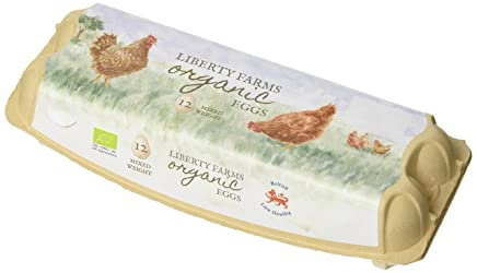 Liberty Farm Organic Mixed Weight Free Range Eggs 12 eggs, 526g
