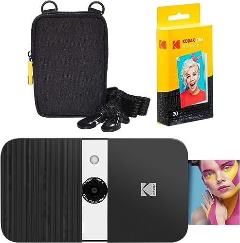 high quality KODAK Smile Instant Print 2021 Digital Camera (Black/White) Soft Case new arrival Kit online