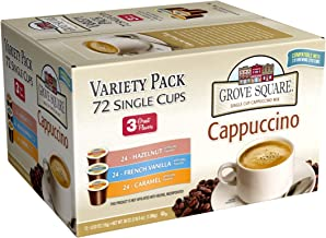 Grove Square Cappuccino Variety Pack, 72 Single Serve Cups