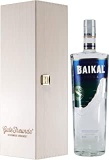 Baikal Vodka 1,0L mit Geschenk-Holzkiste