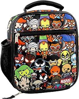 Marvel Kawaii Avengers Girls Boys Soft Insulated School Lunch Box (One Size, Black/Multi)