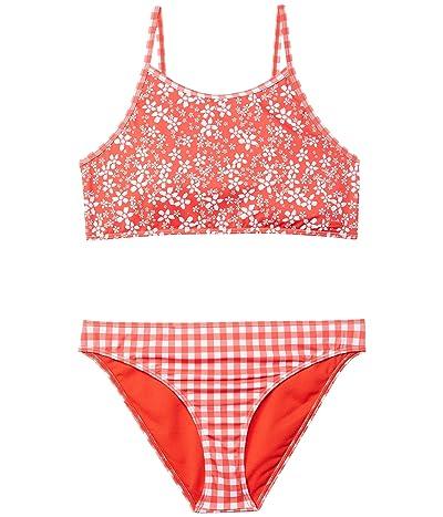 Roxy Kids Friendly Flower Crop Top Set Swimsuit (Big Kids)