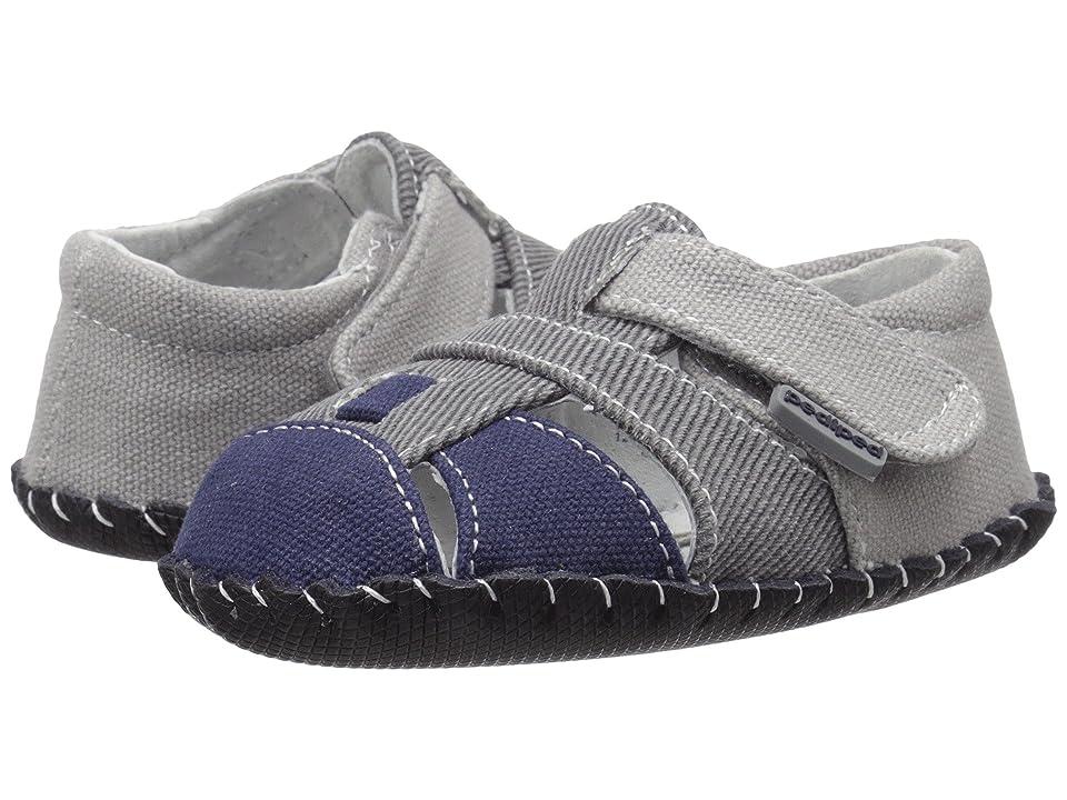 pediped Harvey Originals (Infant) (Grey/Navy) Boy