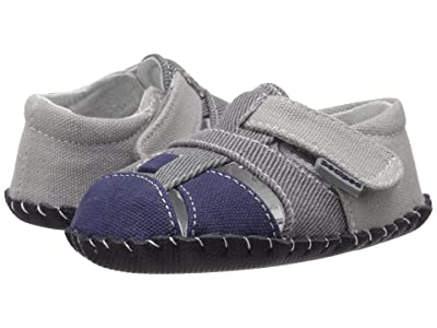pediped Harvey Originals (Infant) (Grey/Navy) Boy