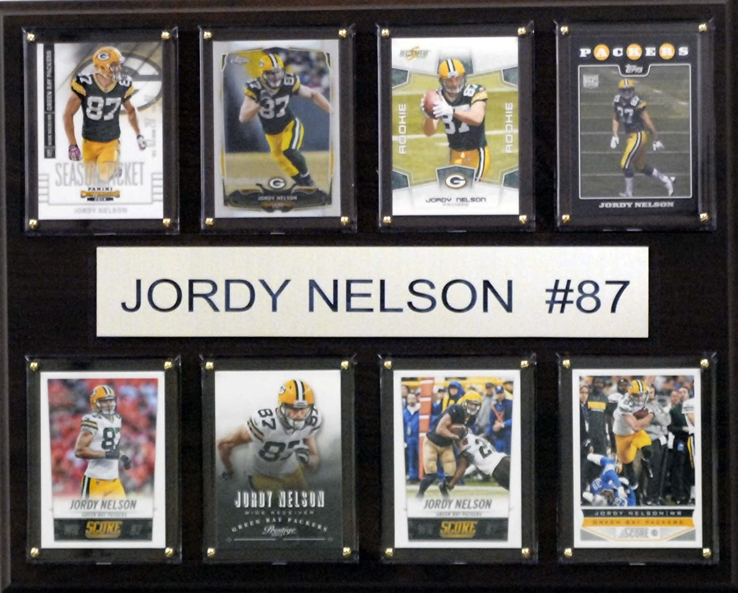 NFL Green Bay Packers Jordy Nelson 8-Card Plaque, 12 x 15-Inch