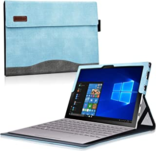 ACdream Carrying Case for Samsung Galaxy Book2 12, Multiple Angle Viewing with Pocket Business Cover Case for Samsung Galaxy Book2 12 SM-W737(Compatible with Type Cover Keyboard), Light Blue