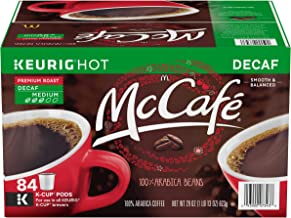 McCafe Premium Medium Roast Decaf Keurig K-Cup Coffee Pods (84 Count Value Pack) | 100% Arabica Beans | Smooth & Balanced Decaffeinated Coffee from McDonald's