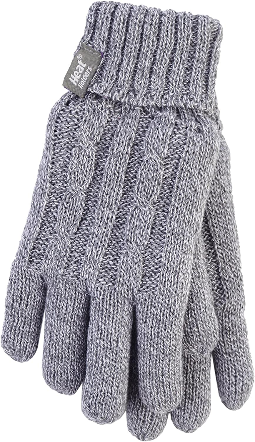 Heat Holders - Women's Thermal Heat Weaver Cable Knit 2.3 Tog Gloves - M/L