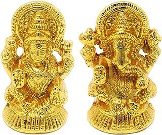 Hashcart Hindu God Lakshmi Ganesh Gold Plated Figurine | Statue | Idol
