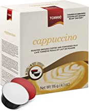 Torrié Coffee Capsules, Dolce Gusto Compatible (Cappuccino, 6 Boxes; 96 capsules)