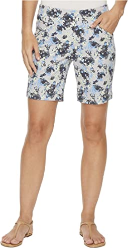 "Ainsley Pull-On 8"" Floral Print Twill Shorts"