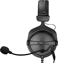 Beyerdynamic DT 770 PRO 32 Ohm Closed Back Dynamic Over-Ear Headphones Bundle with Antlion Audio ModMic 4 with Mute Switch and Blucoil Y Splitter for Audio, Mic