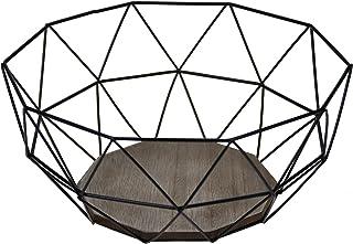 Schwar WEYO Obstkorb 2er Pack Moderne Obstschale Brotkorb Metall 26,5x12,5x11,5CM