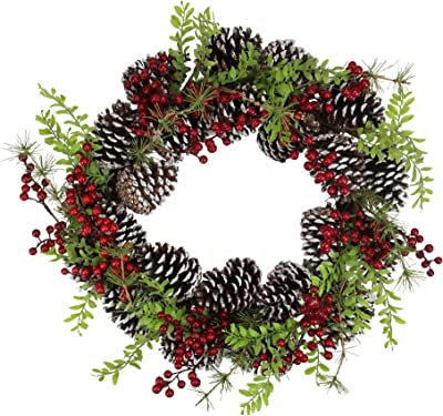 Decoris Starry Pinecone Wreath 621856