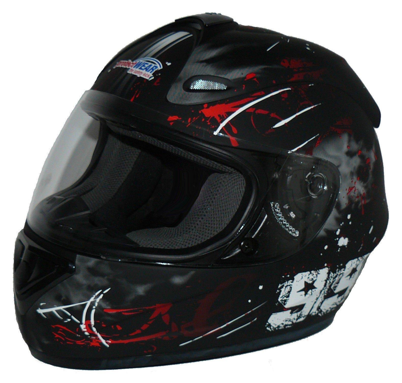 Amazon.es: Protectwear Casco de moto negro-rojo 99 FS-801-99R Tamaño L