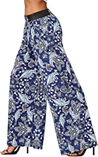 Premium Women's Palazzo Pants with Pockets - High Waist -...