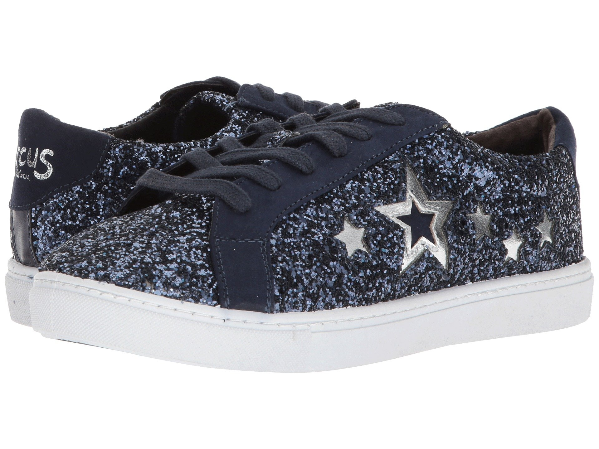 CIRCUS BY SAM EDELMAN Vanellope-1, Navy/Silver Glitter/Microsuede/New Metal Grain in Navy Silver