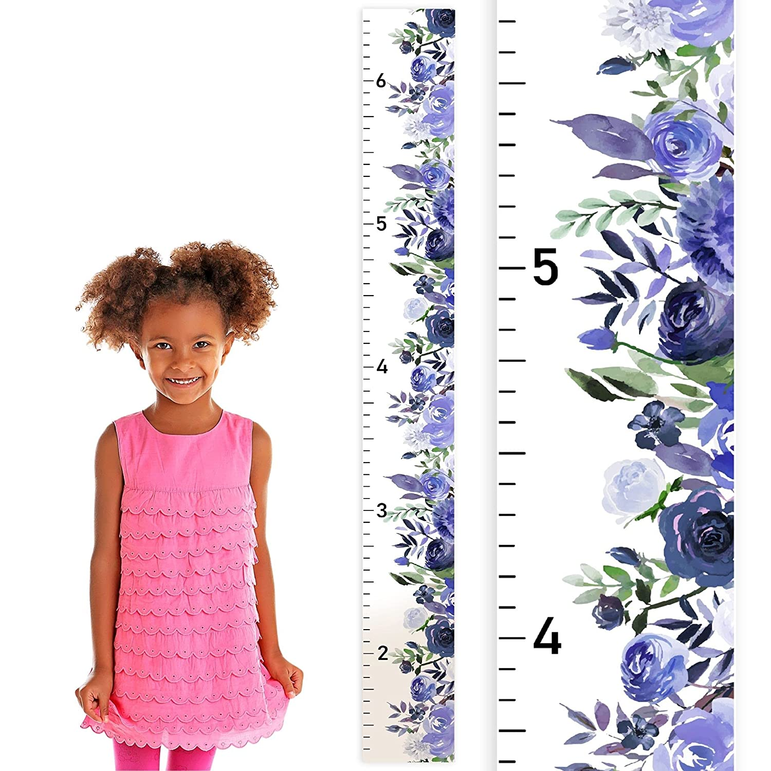 Flower Atlanta Mall Wood Growth Chart for Wooden SEAL limited product Girls Height Kid