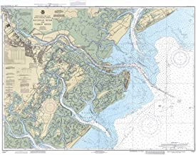 Map - Savannah River And Wassaw Sound, 1990 Nautical NOAA Chart - Georgia, South Carolina (GA, SC) - Vintage Wall Art - 44in x 36in