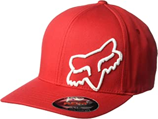 Fox Men's Flex 45 Flexfit HAT, Dark Red, L/XL