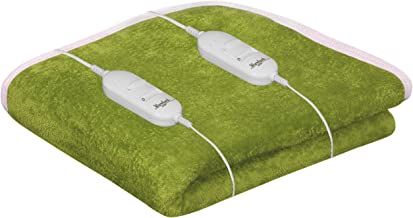 Warmland Solid Polyester Double Electric Blanket - Green