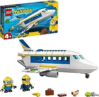 LEGO 75547 Training van Minion-piloot, Bouwbaar Vliegtuig Speelgoed met Bob en Stuart Minifiguren, Vliegtuigset voor Kinderen
