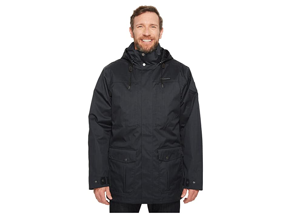 Columbia Big Tall Horizons Pine Interchange Jacket (Black/Black) Men