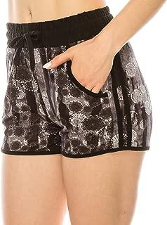 Women Camo Yoga Shorts - Premium Buttery Soft Stretch Striped Short Pants