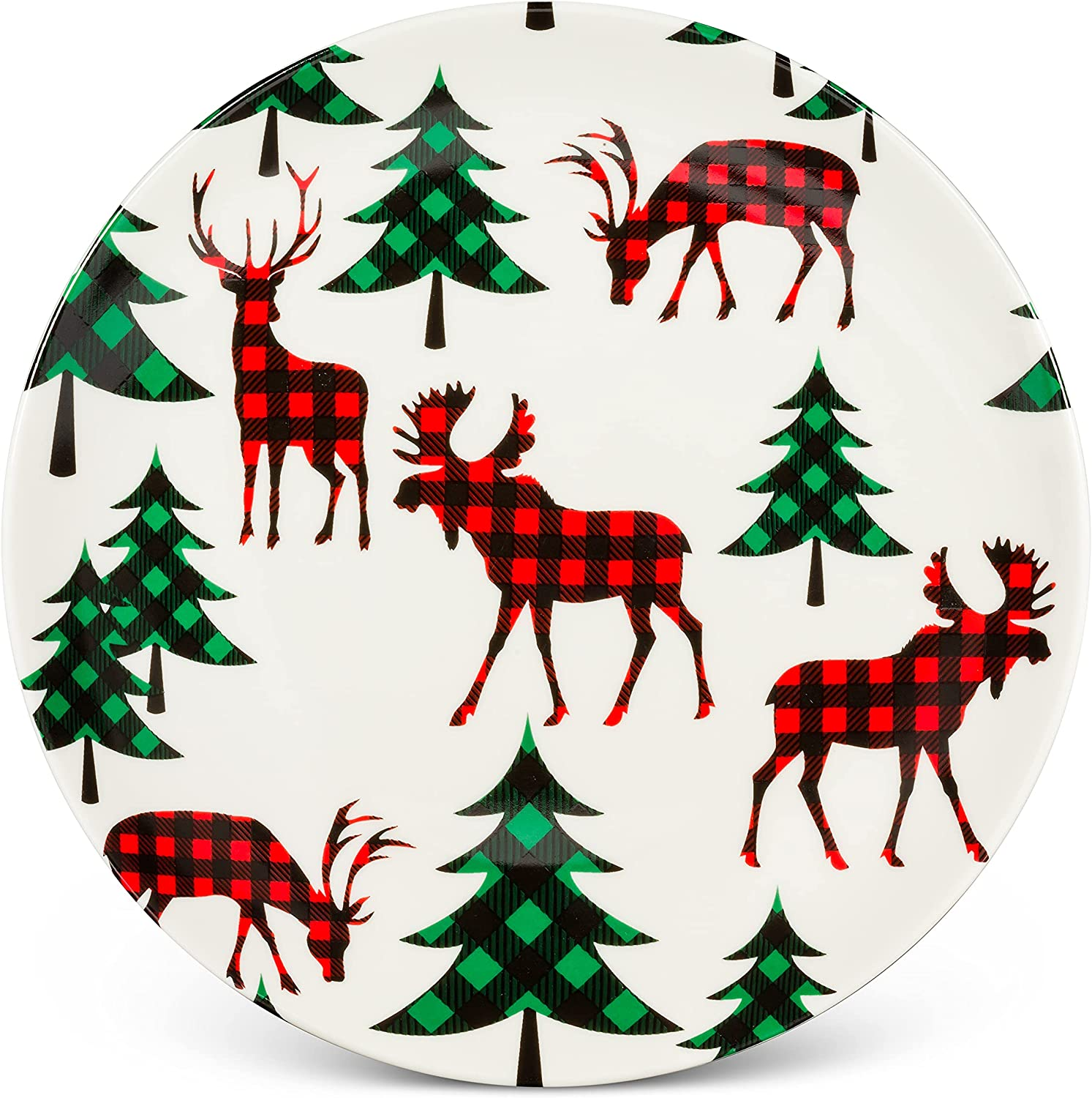 Abbott Collection 27-Canadian-CKPL Check Moose Tree Purchase Cakeplate A surprise price is realized