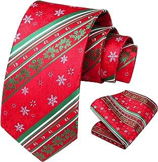 Christmas Skinny Novelty Necktie Red Frederick Thomas Knitted Silk Mens Tie