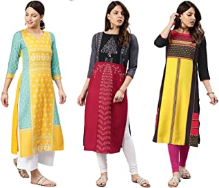 Vaamsi Crepe Digital Printed Kurti(COPK1037_Multi-Coloured_Free Size)