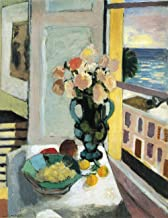 Henri Matisse - Flowers in Front of a Window, Size 18x24 inch, Poster Art Print Wall décor