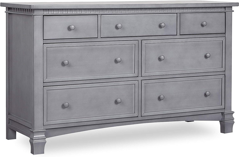 Evolur Manufacturer direct Miami Mall delivery Santa Fe Double Grey Storm Dresser