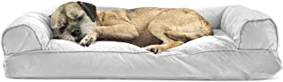 FurHaven Pet Dog Bed   Quilted Pillow Sofa-Style Couch Pet Bed for Dogs & Cats, Silver Gray, Medium