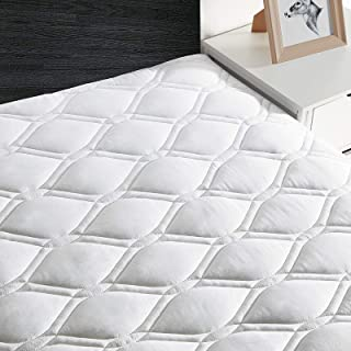 Full Mattress Pad,Quilted Cooling Mattress Cover Stretches up to 21 Inches Deep,Soft,Breathable Mattress Protector