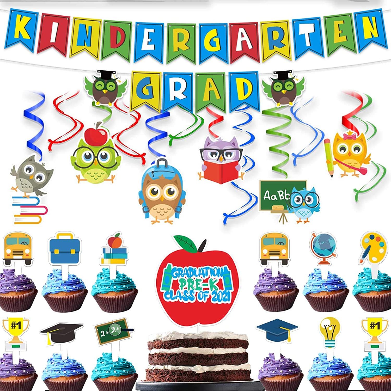 Classic wongmode Kindergarten Grad Banner Set Decor S Hanging - New popularity Kids for