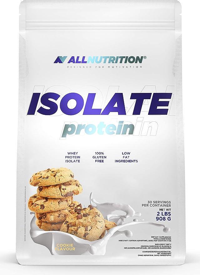 ALLNUTRITION aísla 908g paquete de 1 proteína de suero aislado proteína de suero proteína muscular en polvo (Banana Cookie)