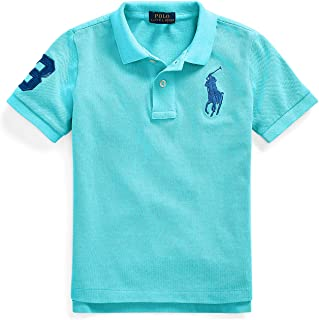 Polo Ralph Lauren Boy`s Classic Fit Mesh Polo Shirt, Lindsay Blue(610482)/Blue, X-Large