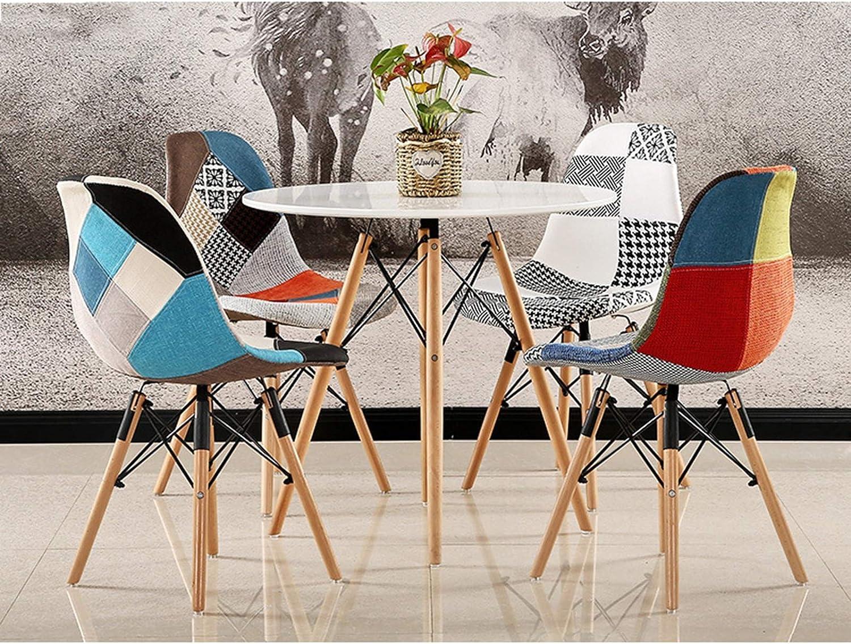 GW Chaises De Salle À Manger en Tissu Patchwork Chaise D'appoint Moderne pour Salle À Manger, Cuisine, Bureau, Restaurant, Etc,B B