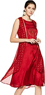 Rangriti Women's Silk A-Line Dress