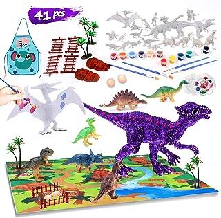 41 PCS Kids Crafts Dinosaur Paint Set Arts and Crafts Supplies Kit Fun DIY Activities Christmas Thanksgiving Halloween Bir...