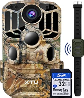 XTU WiFi Trail Camera 24MP 1296P Game Hunting Camera with Infrared Night Vision Motion Activated Waterproof for Wildlife M...
